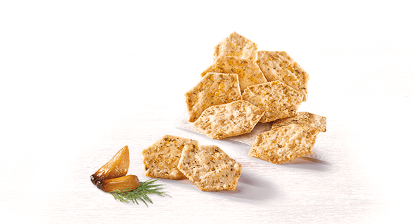 Dill & Roasted Garlic Crackers