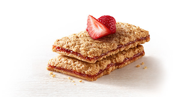 Strawberry & Peanut Butter Sandwich Bars