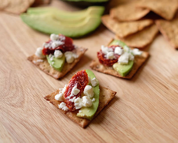 Avocado & Sun Dried Tomato Crackers