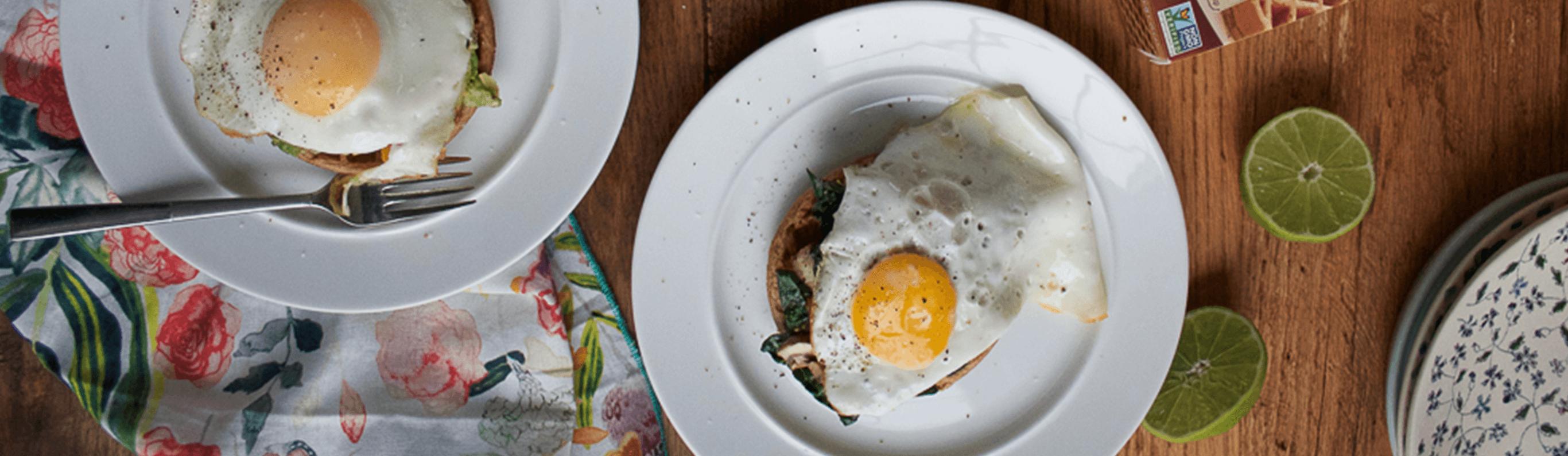 Avocado & Egg Waffles