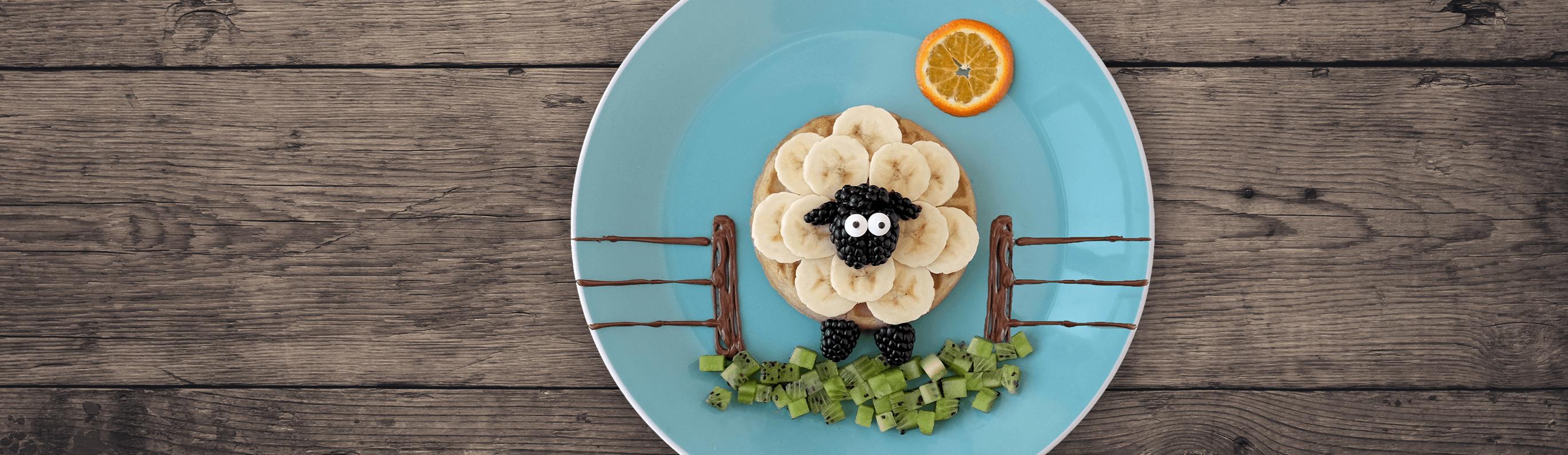 Baaaa-nana Sheep Waffles