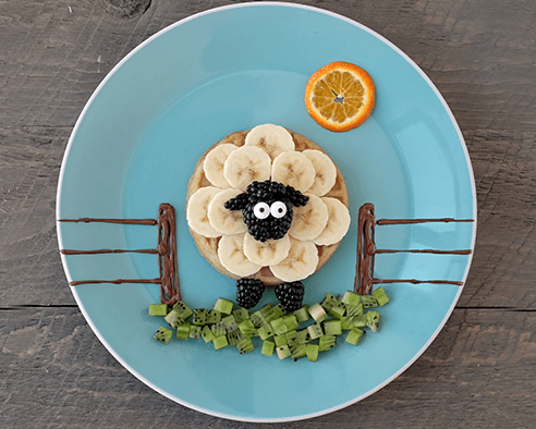 Baaaa-nana Sheep Waffles