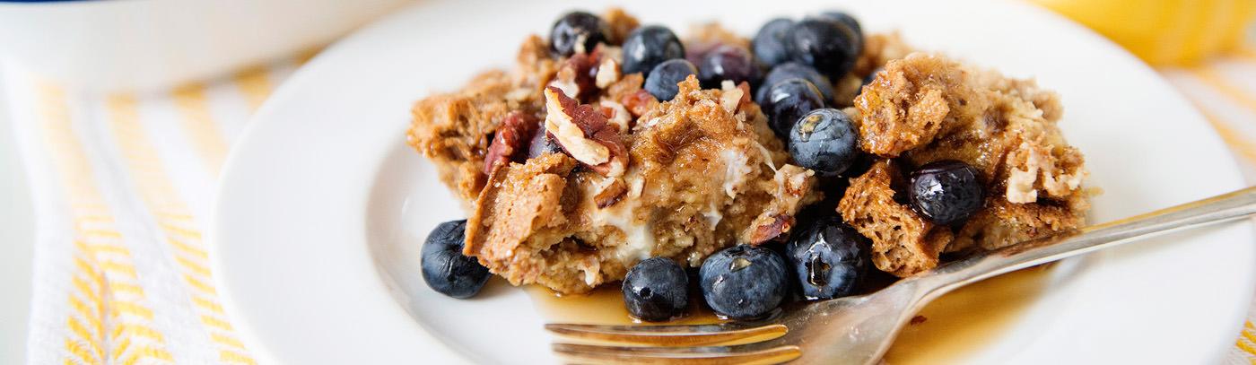 Blueberry Waffle Bake