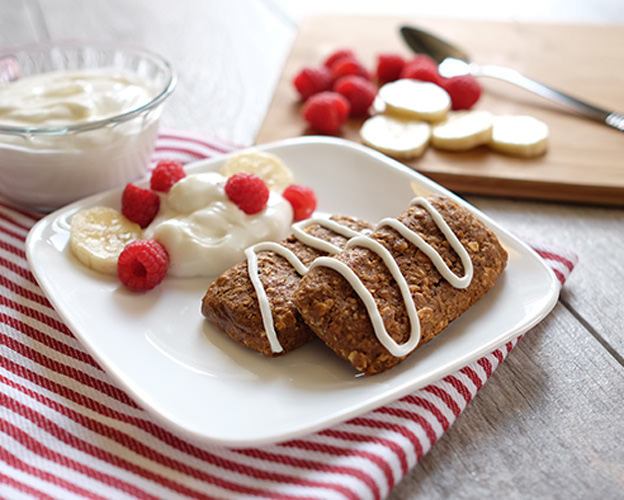 Banana Bread Snack Bars