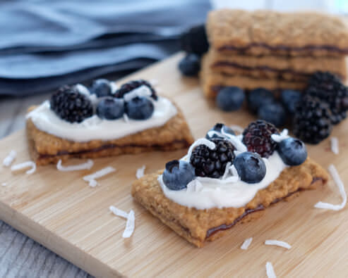Berry-Topped Sandwich Bars
