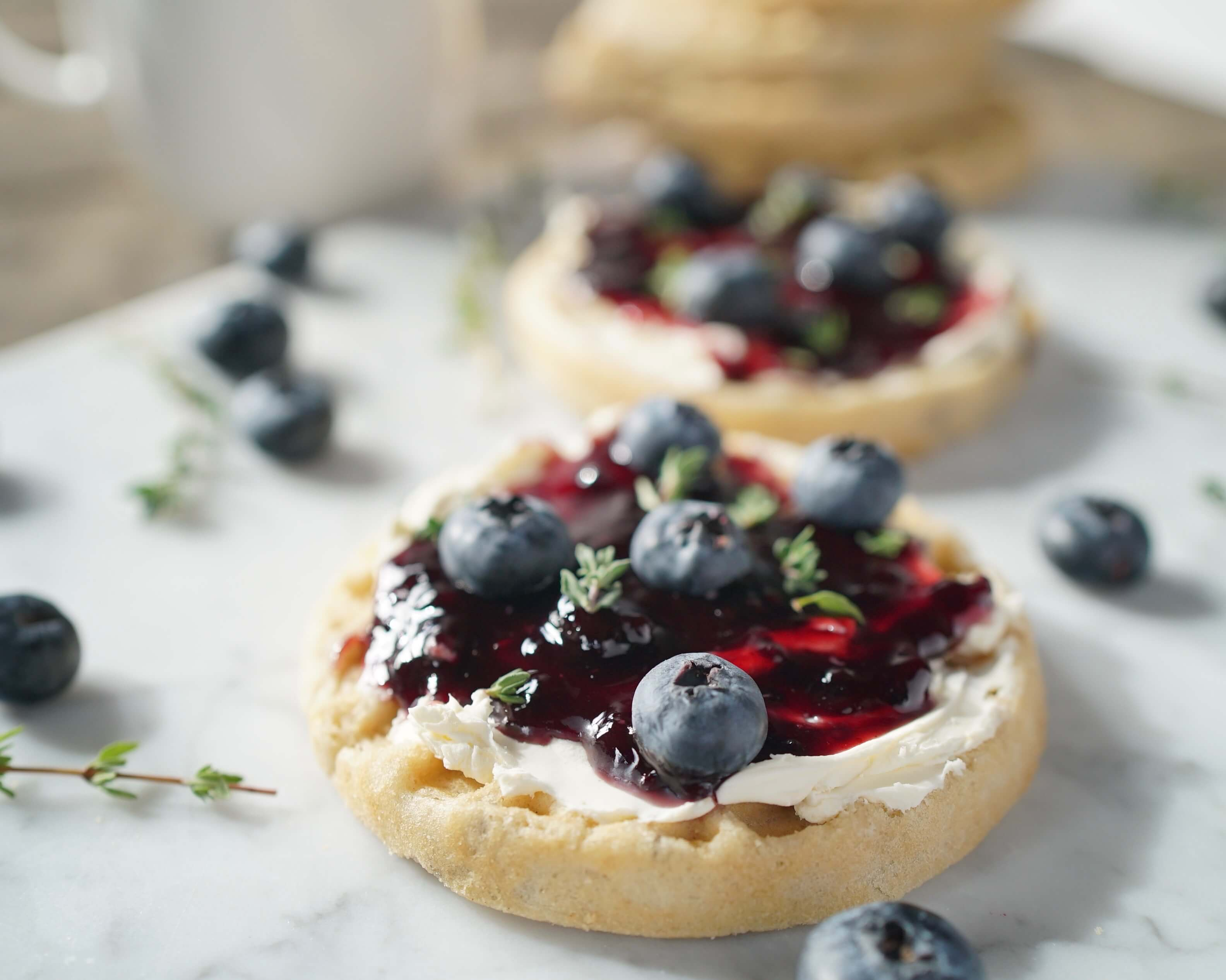 Blueberry and Cream Cheese Waffle