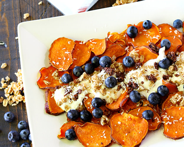 Breakfast Sweet Potato Nachos