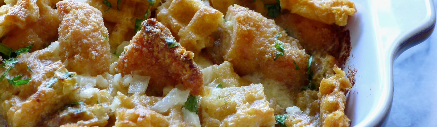 Chicken-n-Waffles Casserole
