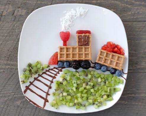 Choo Choo Train Waffles