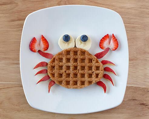 Crabby Morning Waffles