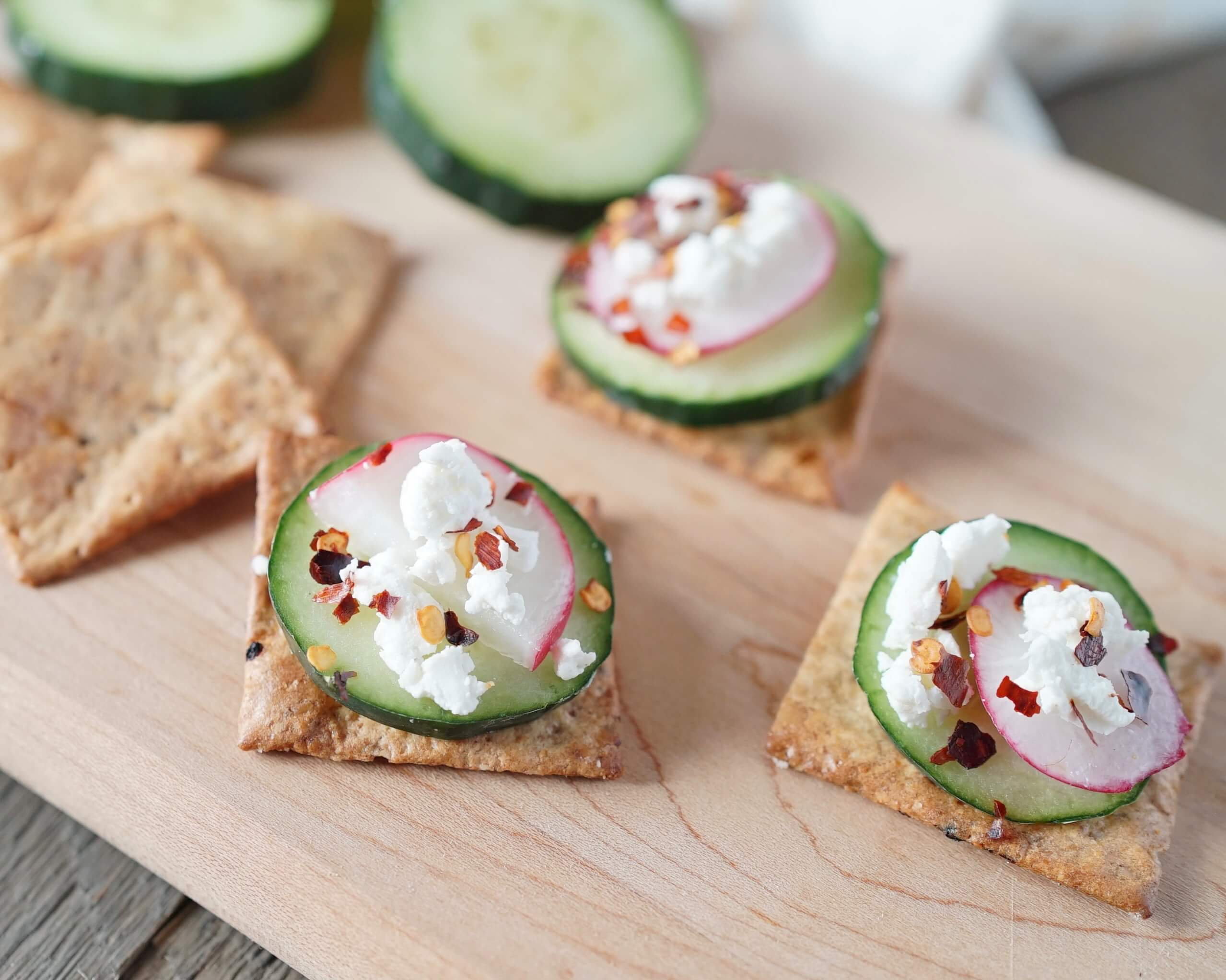 Cucumber and Radish Crackers