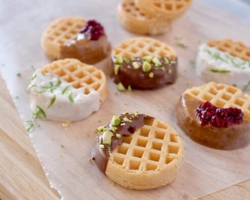 Dunked Mini Waffles