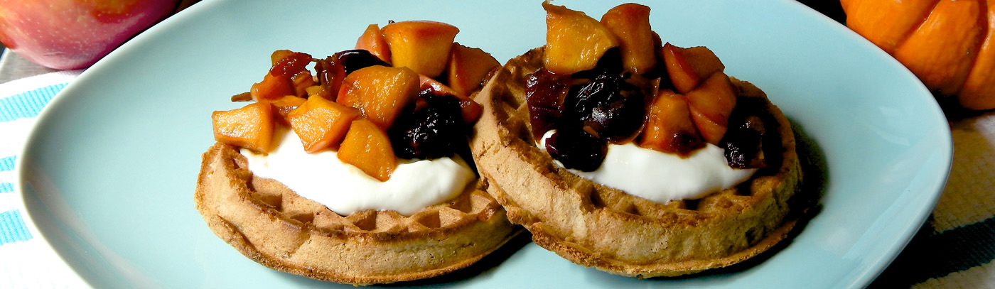 Fall Harvest Fruit Waffles