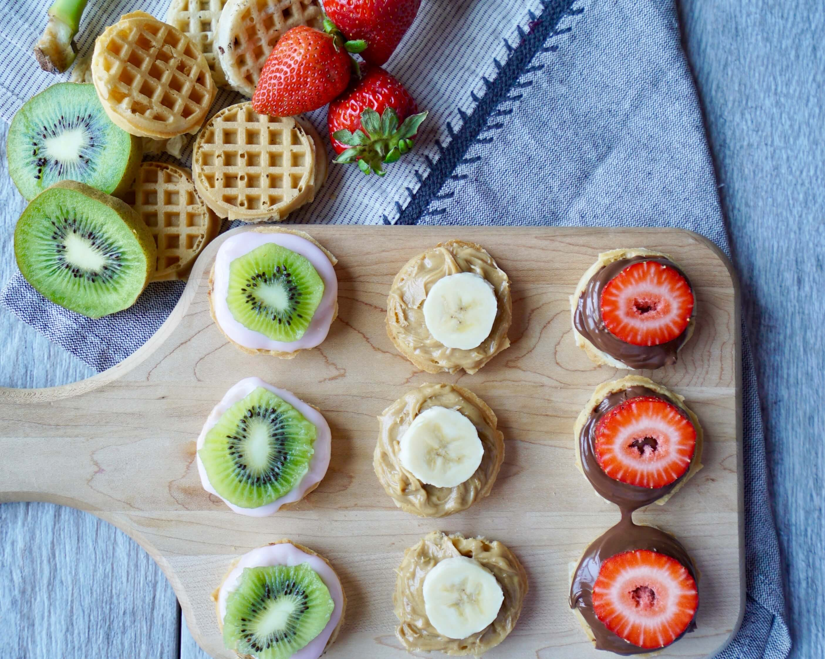 Fruit Topped Mini Waffles