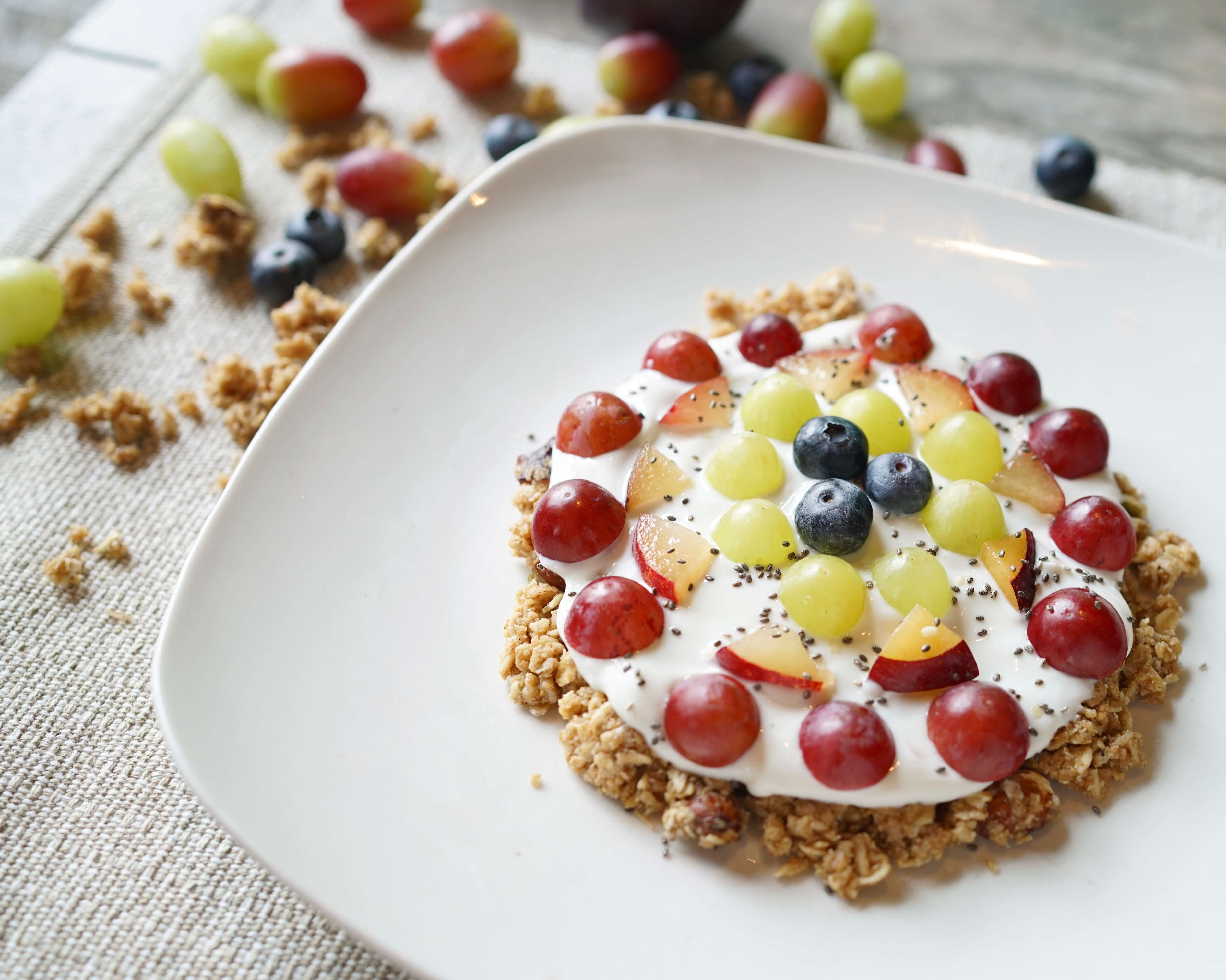 Fruity Granola Pizza