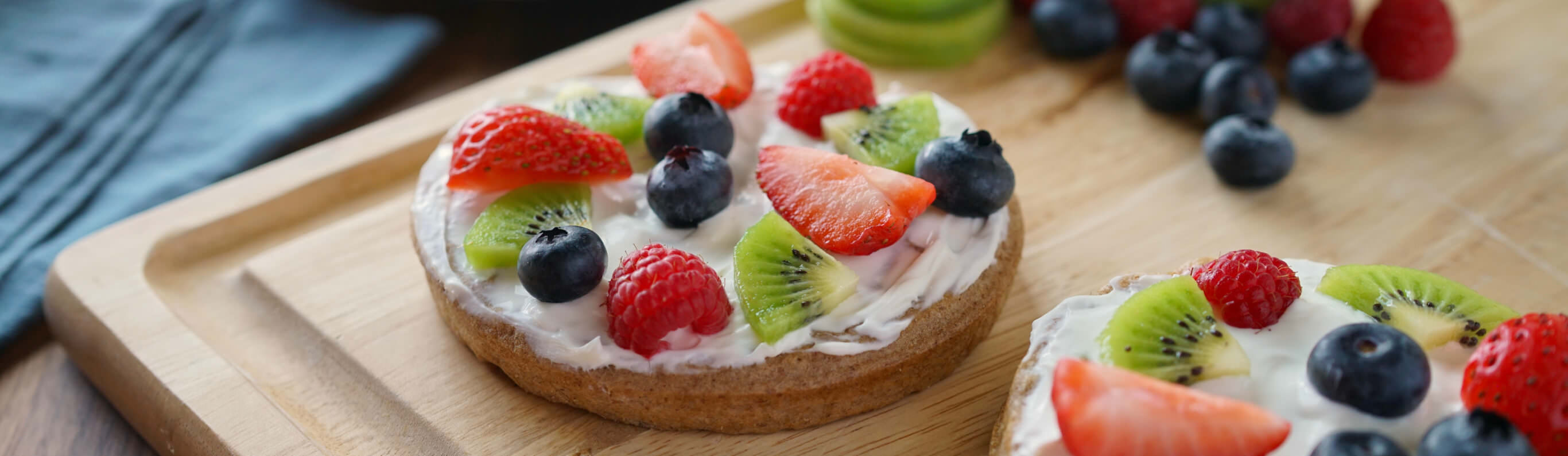 Fruity Waffle Pizzas