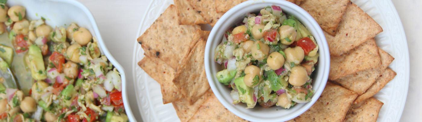 Garbanzo/Chickpea and tuna salad