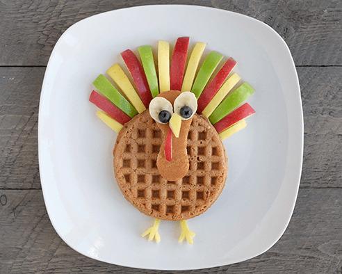 Gobble Gobble Turkey Waffles