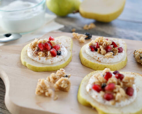 Granola And Pomegranate Pear Cookies