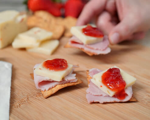 Ham and Jam Crackers