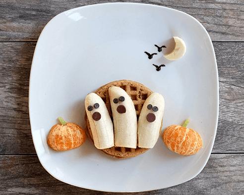 Haunted Halloween Waffles