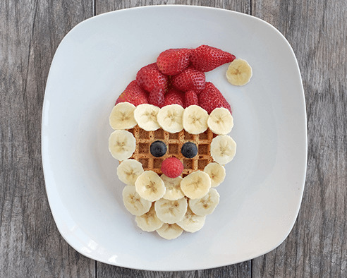 Holly Jolly Santa Waffles