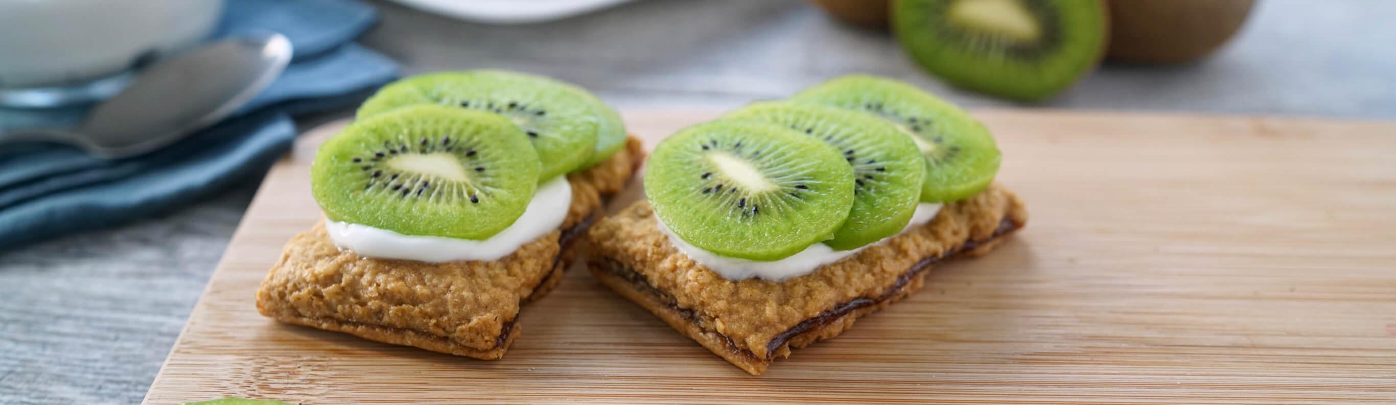 Kiwi Strawberry PBJ Sandwich Bars