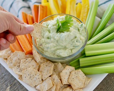 Lots of Everything Crackers and Dip