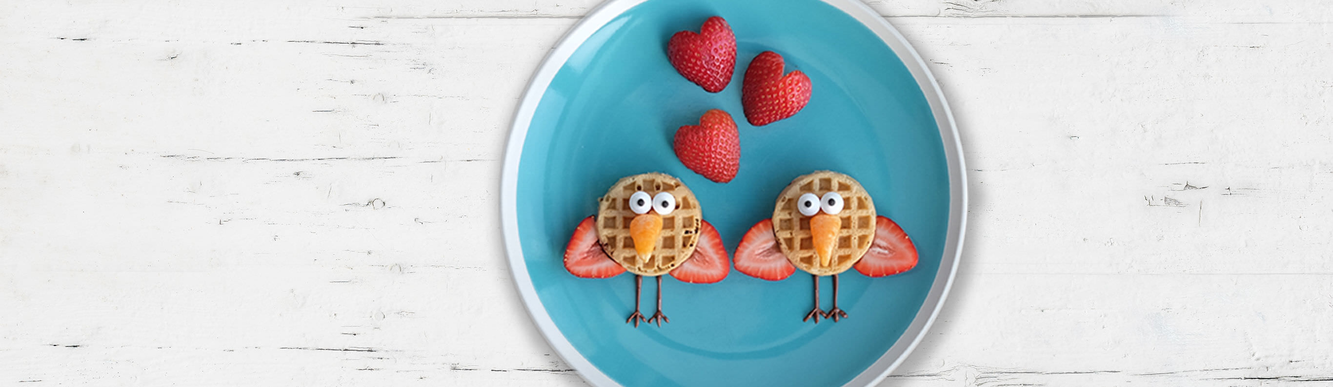 Love Bird Mini Waffles