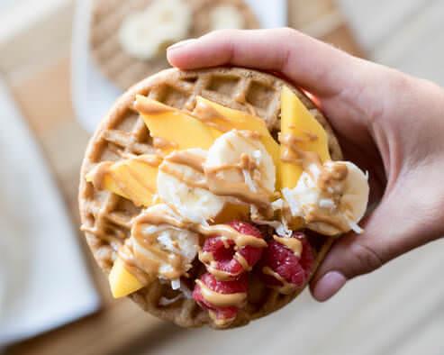 Mango Morning Waffles