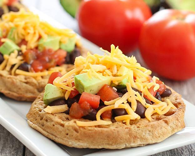 Open-Faced Burrito Waffle