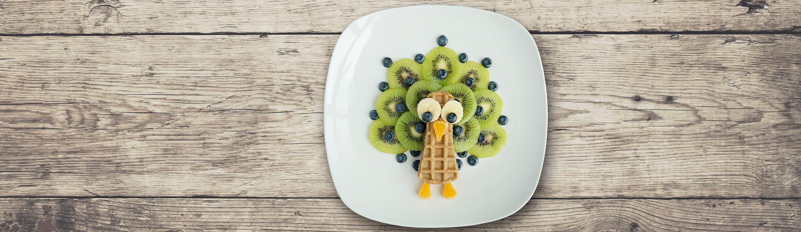 Peacock Waffles