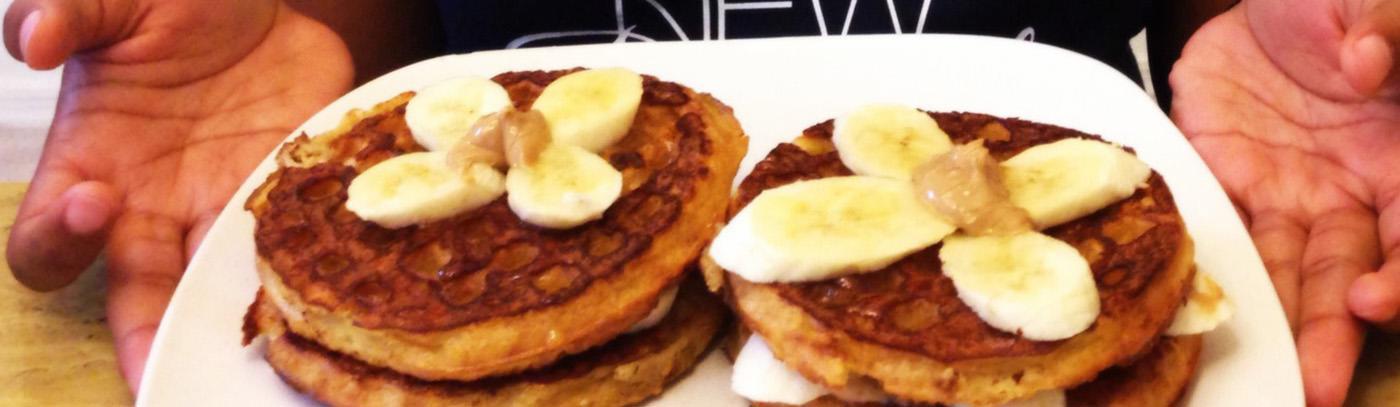 Peanut Butter, Banana, & Honey Waffle French Toast