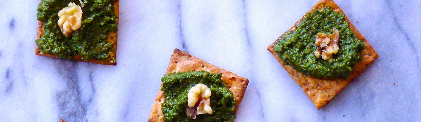 Say Cheese! Pesto Bruschetta