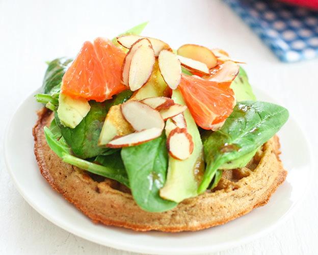 Spinach Salad w/Orange Balsamic Vinaigrette Waffle