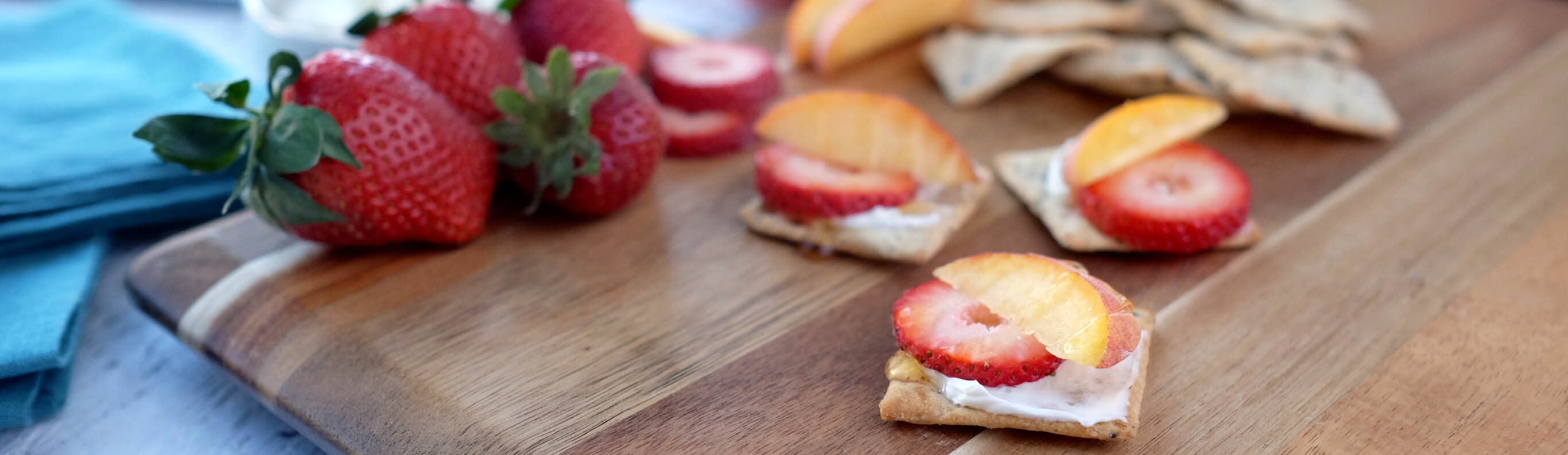 Strawberry & Peach Crackers