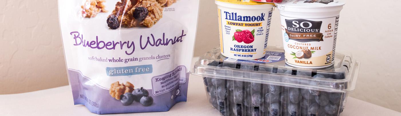 Van's Blueberry Walnut Parfaits