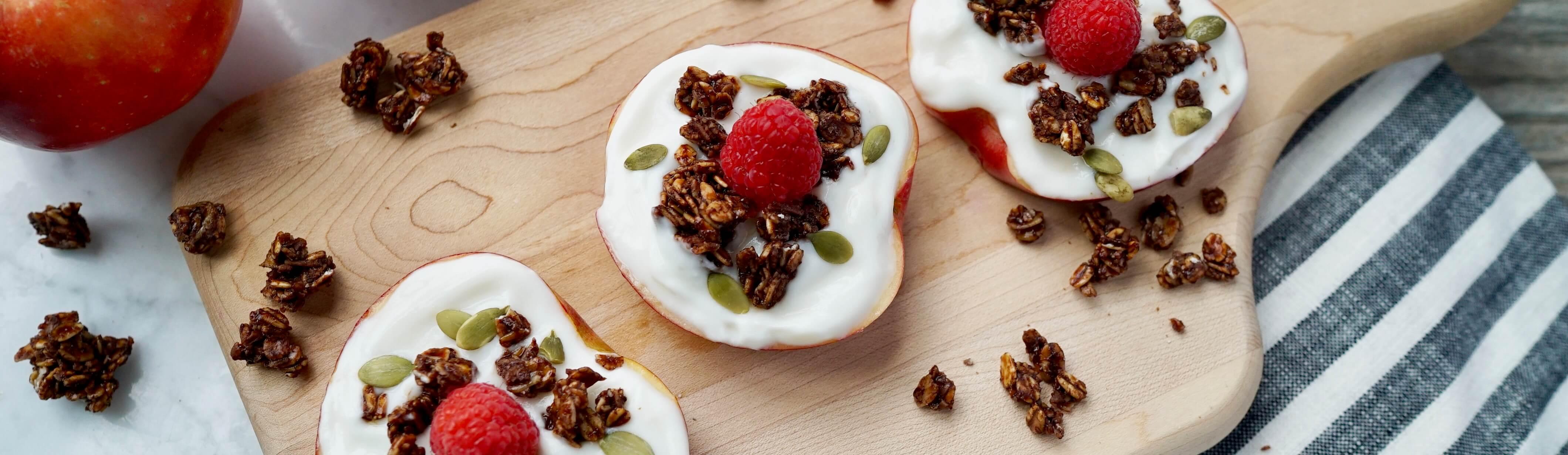 Yogurt and Double Chocolate Granola Apple Cookies